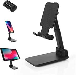 Cell Phone Stand for Desk, iPhone Stand Adjustable Cell Phone Holder, Foldable Phone Stands and Holders Aluminum Tablet St...