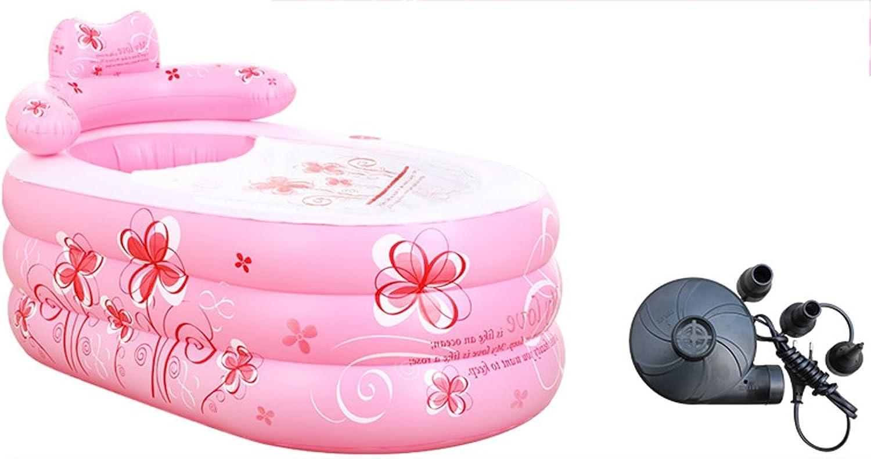 Inflatable Bathtub Thicker Adult Bathtub Folding Bath Tub pink ( Size   1609075cm )
