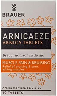 Brauer Arnica EZE Arnica Montana 6C Tablets for Muscle Pain, Bruising and Arthritis. 200 Tablets