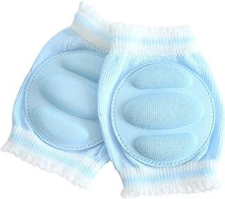 Molinter, Juego de rodilleras transpirables y ajustables, con esponja, para niños y niñas de 0 a 4 años