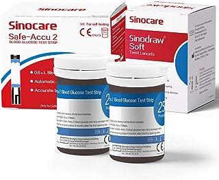 50 tiras reactivas para medidor de glucosa en sangre Safe Accu2