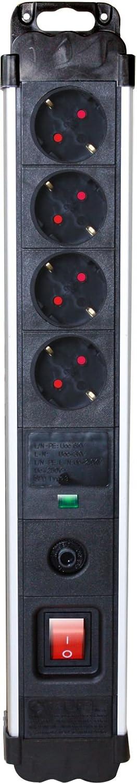 4 tomas Silver Electronics 49644 Base industrial 4 con protecci/ón sobretensi/ón y sobrecalenta
