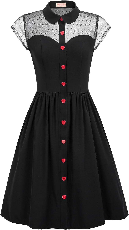 Belle Poque Women's Japan's largest Surprise price assortment 1950s Polka Swing with Dots Vintage Dresses
