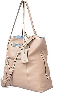 Prada Einkaufstasche mit Schultergurt für Damen, Rosa aus Leder, Logo, Größe L