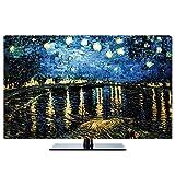 TINGTING Tv Abdeckung LCD-TV-Staubschutzhülle Landschaft Sternenhimmel Dekorieren Computertuchabdeckung Monitorabdeckungen (Color : Starry Night, Size : 40inch)