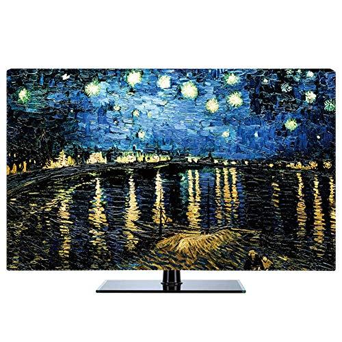 LIUDINGDING-zheyangwang Cubierta de TV Cubierta De Polvo De TV LCD Paisaje Cielo Estrellado Decorar Cubierta De Tela De La Computadora (Color : Starry Night, Size : 43inch)