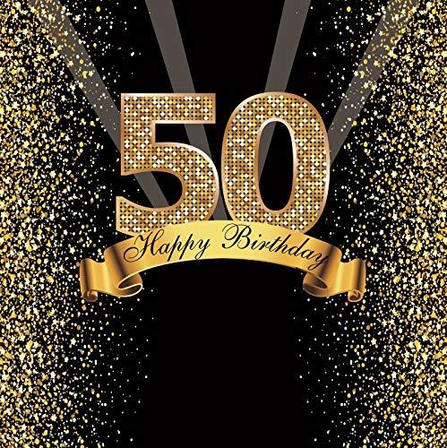Happy Sweet 18 25 30 40 50 55th Fiesta de cumpleaños Gold Dot Party Banner Foto de Fondo Foto teléfono Foto telón de Fondo Foto A13 1,5x1 m