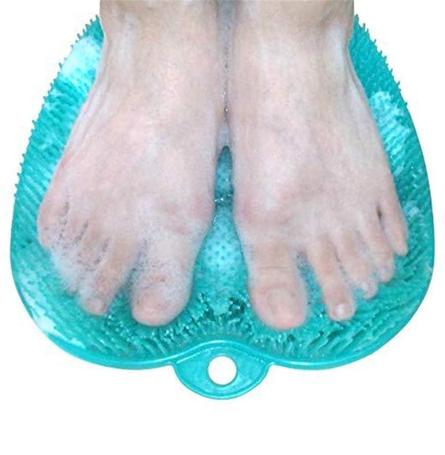 防衛湿地記念日滑り止めの吸引のコップが付いているNewthinkingのフィートのスクラバーの洗剤のマッサージャーのマッサージャーのブラシおよびフットケアのための柔らかい足の指圧のマッサージのマット