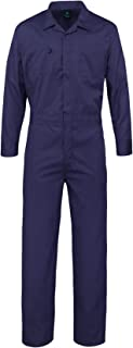 Pro-Deluxe Long Sleeve Cotton Blend Coverall with Multi Pockets and Antistatic Zipper