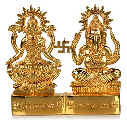 Hashcart Hindu God Laxmi Ganesh Set Statue Idol Murti