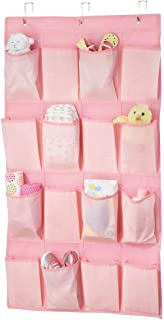 mDesign penderie tissu à 16 poches profondes – rangement enfant pour chaussures, accessoires et vêtements – meuble à suspe...
