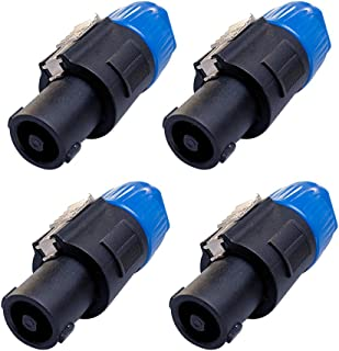 Seismic Audio - SAPT9-4Pack - 4 Pack of 4 Pole Speakon Cable Connectors Twist Lock Speaker Plugs