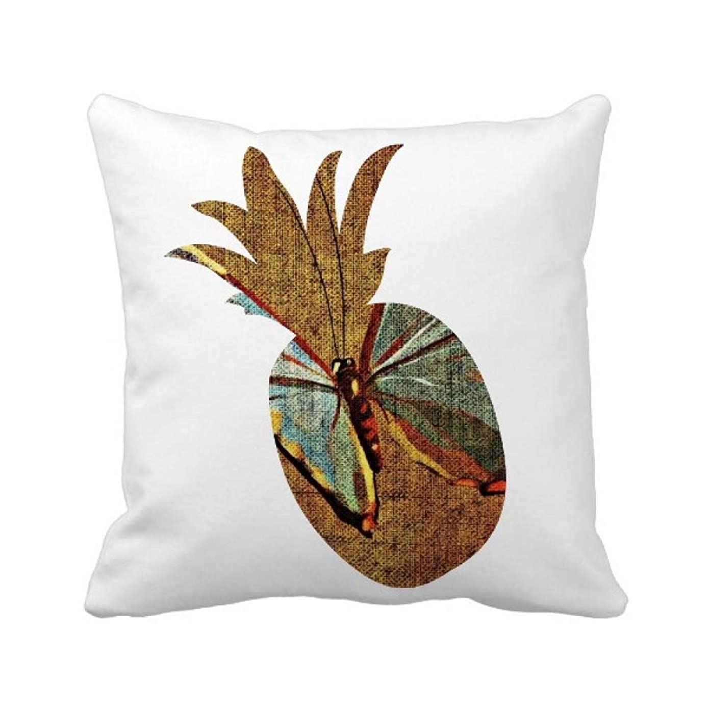 重力応用便宜デザインの刺繍の亜麻の蝶の伝統 パイナップル枕カバー正方形を投げる 50cm x 50cm