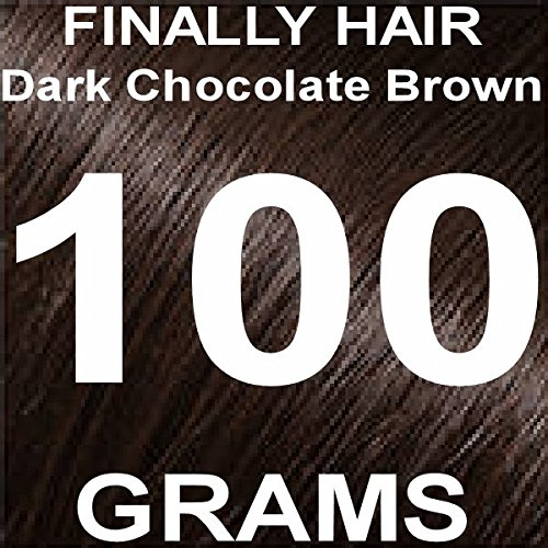Finally Hair Building Fiber Refill 100 Grams Dark Chocolate Brown Hair Loss Concealer by Finally Hair (Dark Chocolate Brown) SEE PICTURES - We have 2 different dark brown shades