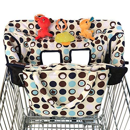 2-in-1 Croc n Frog Shopping Cart Cover and High Chair Covers for Baby Boy or...