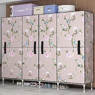 JHDDP3 Armoire Simple Armoire Tissu penderie Tuyau d'acier épaissie épaissir Tout Cadre en Acier Double Maison Chambre Ouv...