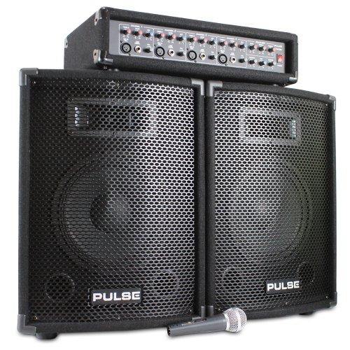 Pair of 10' Speakers + Mixer Amplifier + DJ Microphone...