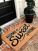 Tar Heel MarketPlace Mats Natural Coir Non Slip Home Sweet Home Floor Entrance Door Mat..