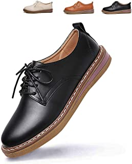 [Ziitop] レースアップシューズ おじ靴 オックスフォードシューズ ウォーキング ナースシューズ 作業靴 レディース 革靴 人気 通勤靴 通学靴 紐靴 カジュアル フォーマルレザーシューズ