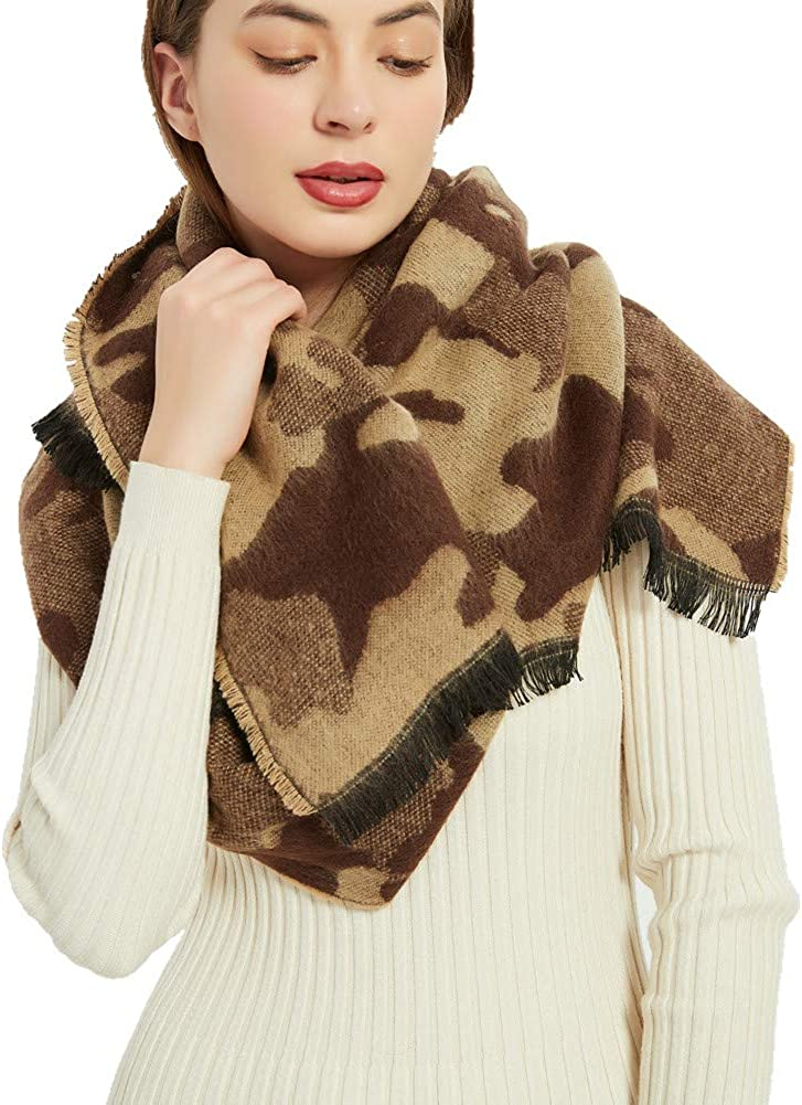 Camo Pashmina Winter Scarf Camoflauge Fashion Direct sale of Outlet ☆ Free Shipping manufacturer Sc Outdoor Blanket