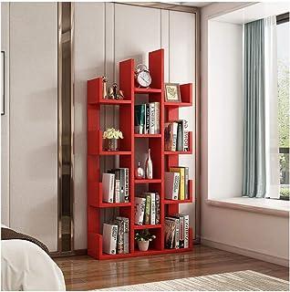 LYLY Bibliothèque multifonction en bois pour la maison, le bureau, le sol, étagère de rangement pour CD/magazine/bibliothè...