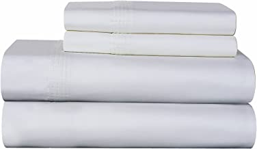 Karen Neubuerger 610 Thread Count 100-Percent Pima Cotton Deep Pocket Luxury California King Sheet Set, White