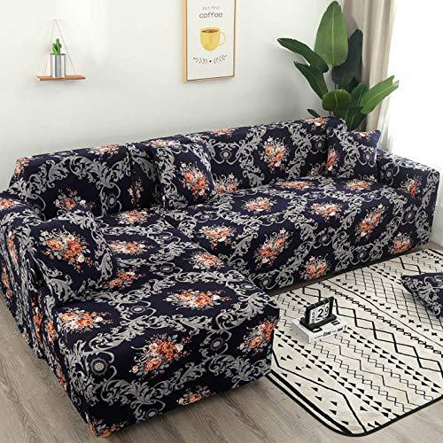 WXQY All-Inclusive Wohnzimmer staubdicht Sofabezug Sofa Handtuchbezug Tuch, Home Decoration Druck Sofabezug A12 1 Sitzer