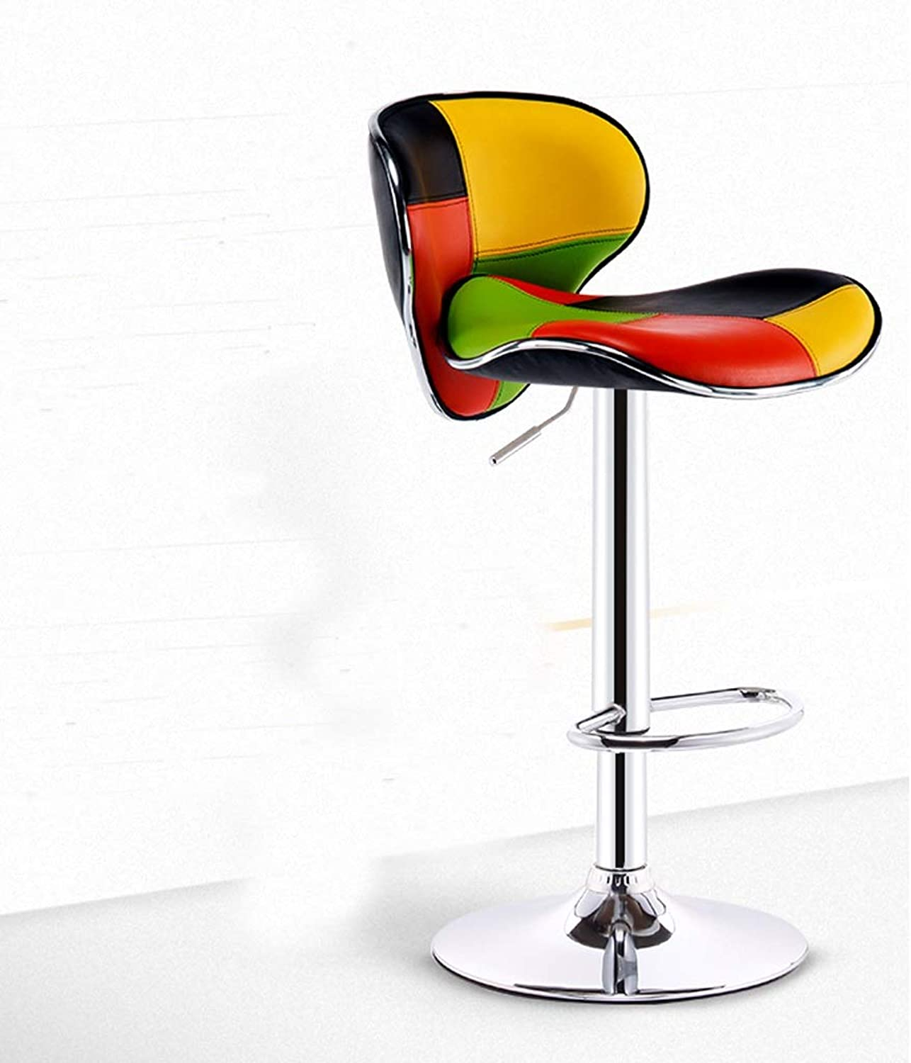 HBJP Lifting and redating Bar Chair Front Bar Stool Bar Stools Cafe High Back Stools Home Breakfast Chairs bar Chair (color   Multi-colord)