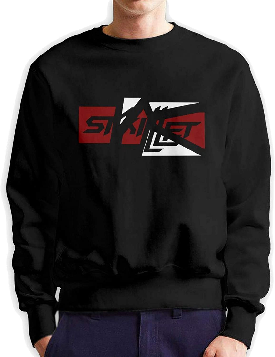 Men's Pullover Skillet Sale price Bargain sale Band Classic Long Loose Sleeve Crew Neck