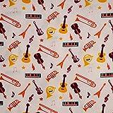 Quilting Patchwork Craft 100% Baumwolle Stoff Musik