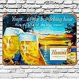 None Branded 1955 Hamm's Beer Bewitching Blechschild