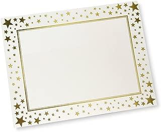 Gold Stars Foil Certificate Paper - 15 CT