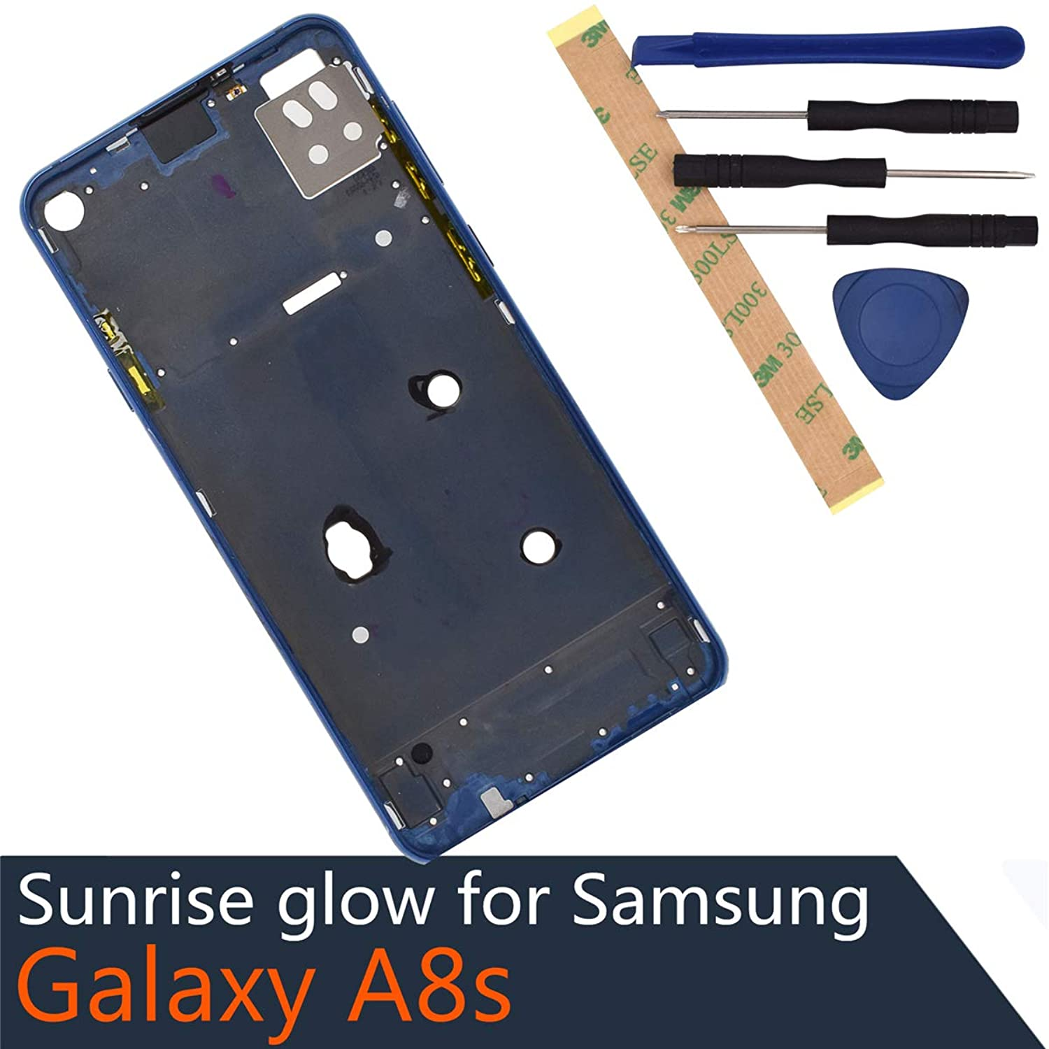 A9 Pro 2019Metal Middle Frame Replacement for Samsung Galaxy A8s A9 Pro 2019 blue