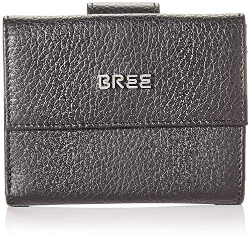 BREE Collection Damen NOLA New 104, Combi. Purse Gra. Geldbörse, Schwarz (Black), 3x9x12 cm