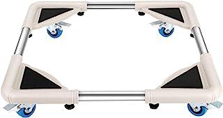 DOZAWA Telescopic مبلمان دالی با 8 چرخ قفل ، ماشین لباسشویی پایه یخچال پایه متحرک سبد خرید ، اندازه قابل تنظیم