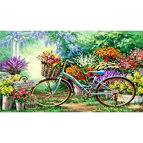 niumanery Bicycle Bike DIY 5D Full Drill Diamond Painting Embroidery Cross Stitch Kit Rhinestone Crystal Home Decoration Craft