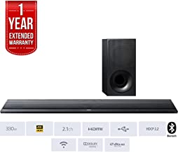 Sony HT-CT790 Stylish 4K WiFi- 2.1 Channel Sound Bar with Bluetooth and HDR Support + 1 Year Extended Warranty