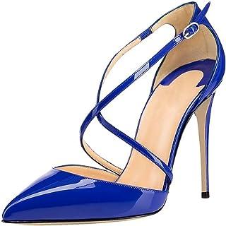 EDEFS - Scarpe col Tacco Donna - Tacco a Spillo - Scarpe con Cinturino alla Caviglia