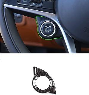 Per Giulia 2017 Fibra di carbonio Stile ABS Alzacristalli Interruttore Alzacristallo Trim Cornice