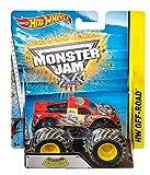 Hot Wheels - Vehículo Monster Jam 4modelos (Mattel BHP37) , Modelos/colores Surtidos, 1 Unidad