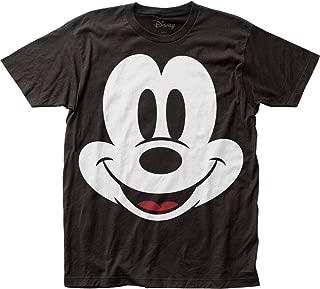 Mickey Mouse - Mens Face Big Print Subway T-Shirt