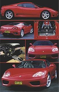 Ferrari 360 Modena Red Sports Car 6 Pics V PAPER POSTER measures 36 x 24 inches (91.5 x 61cm)