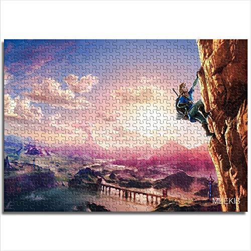 Puzzle Set 1000 Piezas The Legend of Zelda Breath of The Wild Rompecabezas difícil Regalo de Pascua 26x38