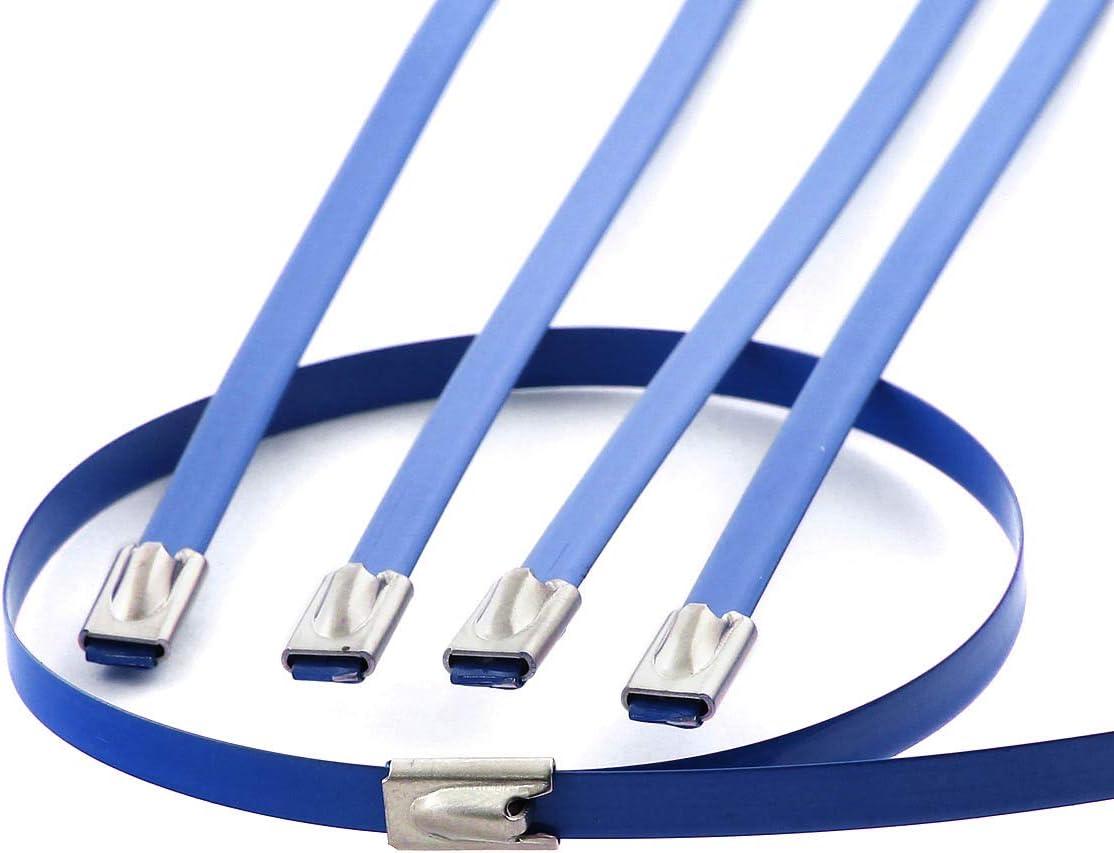 15ft Aluminum Coated Exhaust Heat Wrap+12 inches Long 5mm Width Black Zip Tie