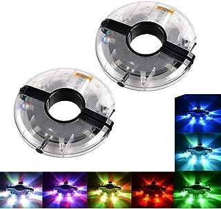 Estiq Waterproof Bike Wheel Light - 7 Colors Changeable Ultra Bright Colorful Led Bicycle Wheel Tire Spoke Light String Strip Lamp Bike Decorations Lights