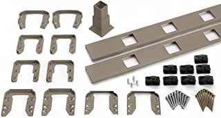 Trex Transcend 91.5 in. Composite Gravel Path Square Baluster Stair Accessory Kit