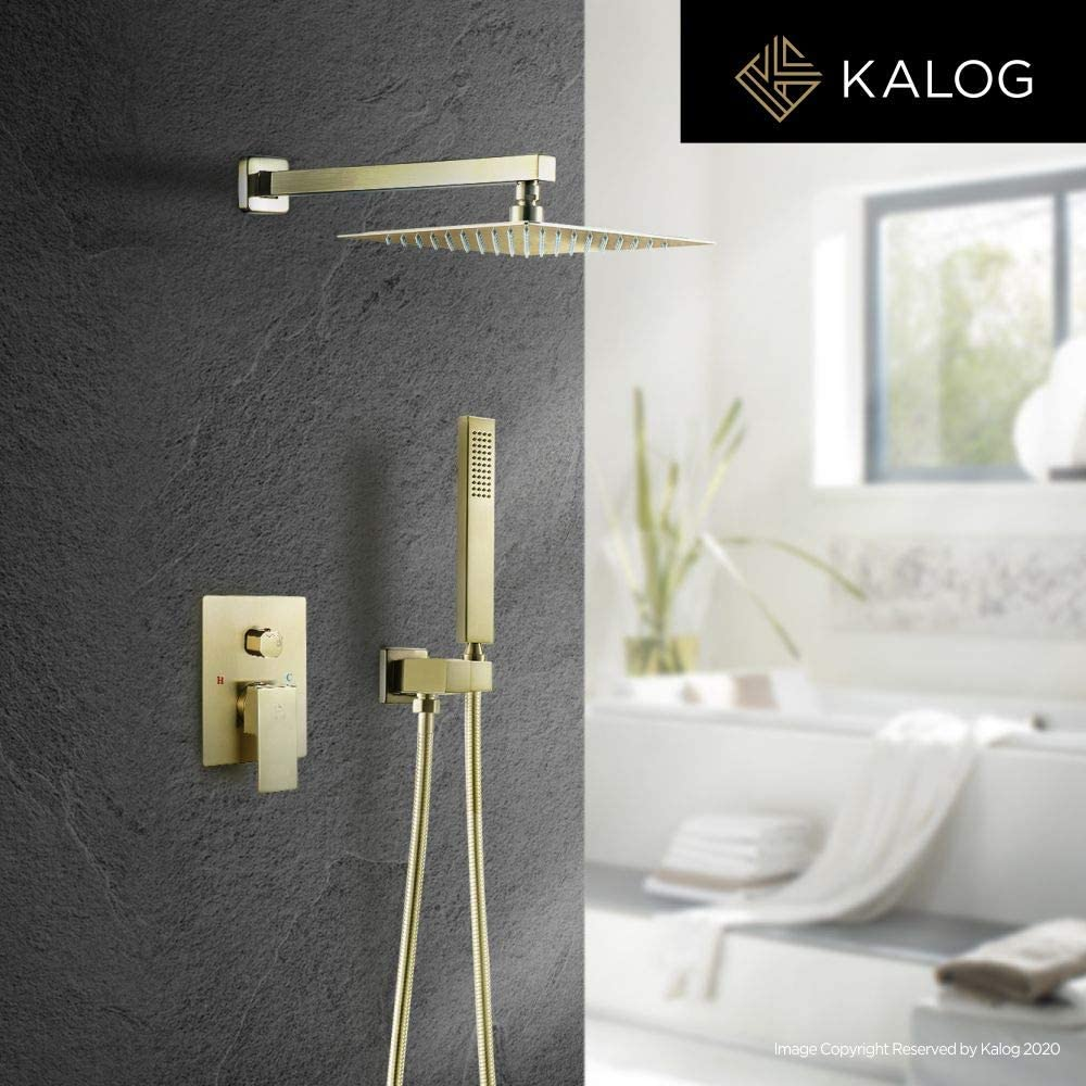 Buy Kalog Rain Mixer Shower System with Jets, Brass Bathroom ...
