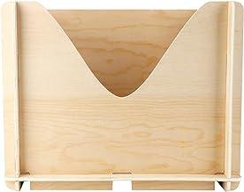 Fdit Drewniane pudełko, niedokończone drewniane pudełko organizer do przechowywania DIY drewniane pudełko z pustym uchwyte...