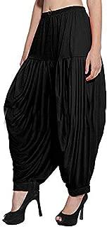 Sharvgun Women's Punjabi Patiala Salwar Viscose Lycra Pant Baggy Trouser Free Size New Dhoti Yoga Pant