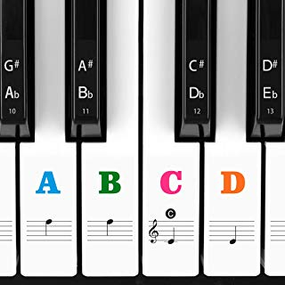 Piano Stickers for Keys, Eison Colorful Piano Keyboard...